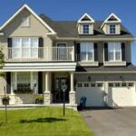 A nice two-story home with a two-car garage.