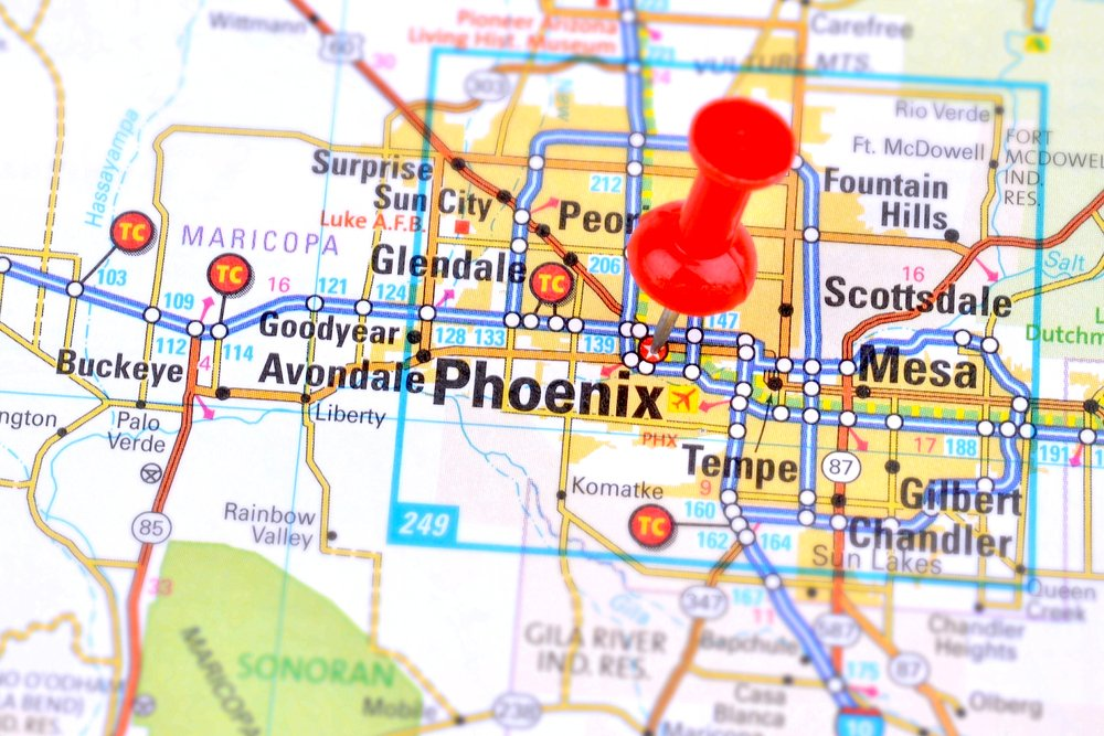 A Map Of Phoenix Arizona.Scorpion Map Phoenix Valley 2018 2019 Responsible Pest Control